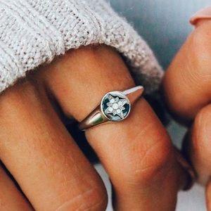 NEW Pura Vida Ring Opal Swarovski Crystal Size 7
